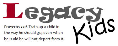 Legacy Kids logo with verse