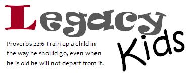 Legacy Kids logo with verse