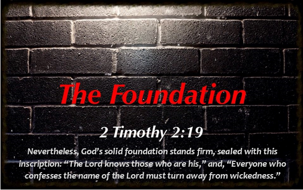 the Foundation logo with verse